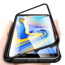Husa Samsung Galaxy J4 Plus, Magnetic Clear-Black