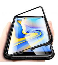 Husa Samsung Galaxy J4 Plus Magnetic Clear-Black