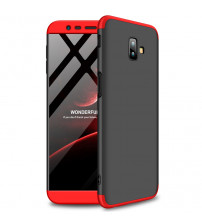 Husa Samsung Galaxy J6 Plus GKK Full Cover 360, Black-Red
