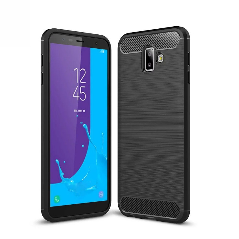 Husa Samsung Galaxy J6 Plus Slim Armor TPU, Black - TemperedGlass.ro