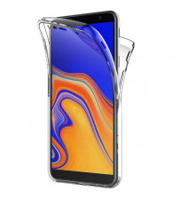 Husa Samsung Galaxy J4 Plus TPU Full Cover 360 (fata+spate), Transparenta