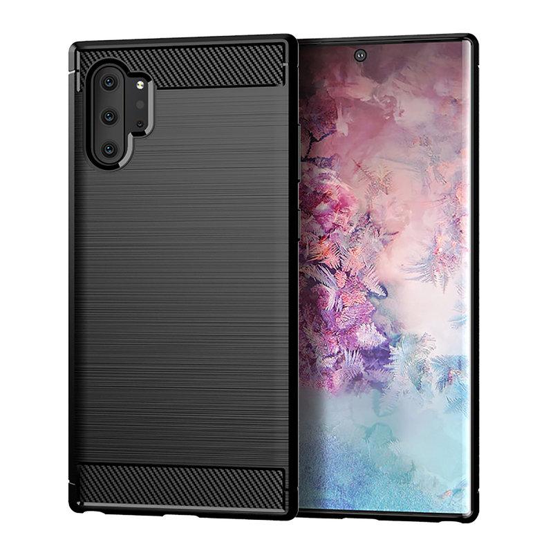 Husa Samsung Galaxy Note 10 Plus Slim Armor TPU, Black - TemperedGlass.ro
