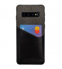 Husa Samsung Galaxy S10 Card Pocket, Black