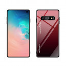 Husa Samsung Galaxy S10 Plus Gradient Glass, Red-Black