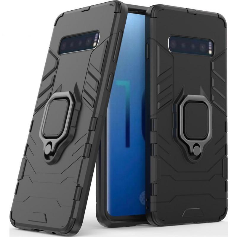 Husa Samsung S10 Magnet Slim Ring, Black - TemperedGlass.ro