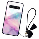 Husa Samsung Galaxy S10 Plus Glass Back, Milky Way