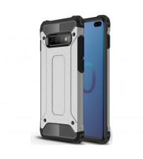 Husa Samsung Galaxy S10 Plus Rigida Hybrid Shield, Silver
