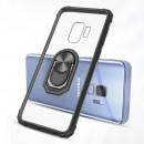 Husa Samsung Galaxy S10 Transparent Silver Ring, Black