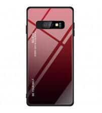 Husa Samsung Galaxy S10E Gradient Glass, Red-Black