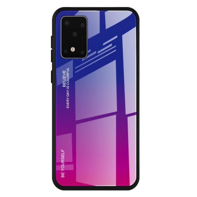 Husa Samsung Galaxy S20 Gradient Glass, Blue-Purple - TemperedGlass.ro