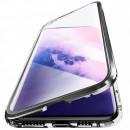 Husa Samsung Galaxy S21 Ultra Magnetic 360 (fata+spate sticla), Black
