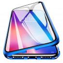 Husa Samsung Galaxy S21 Ultra Magnetic 360 (fata+spate sticla), Blue