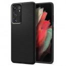 Husa Samsung Galaxy S21 Ultra originala SPIGEN Liquid Air, Matte Black