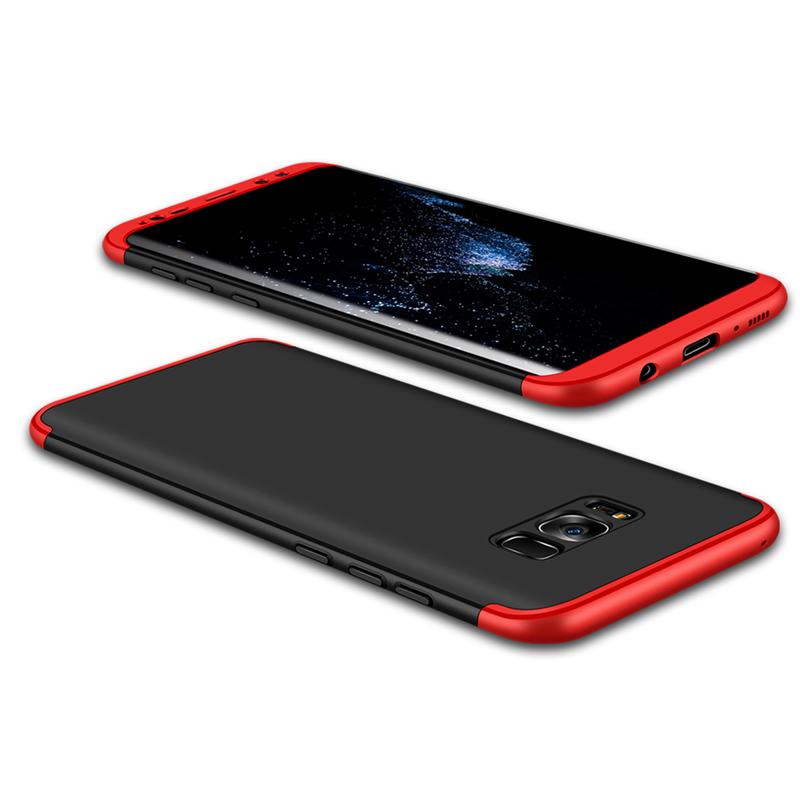 Husa Samsung S8 GKK Full Cover 360, Black-Red - TemperedGlass.ro