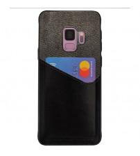 Husa Samsung Galaxy S9 Card Pocket, Black