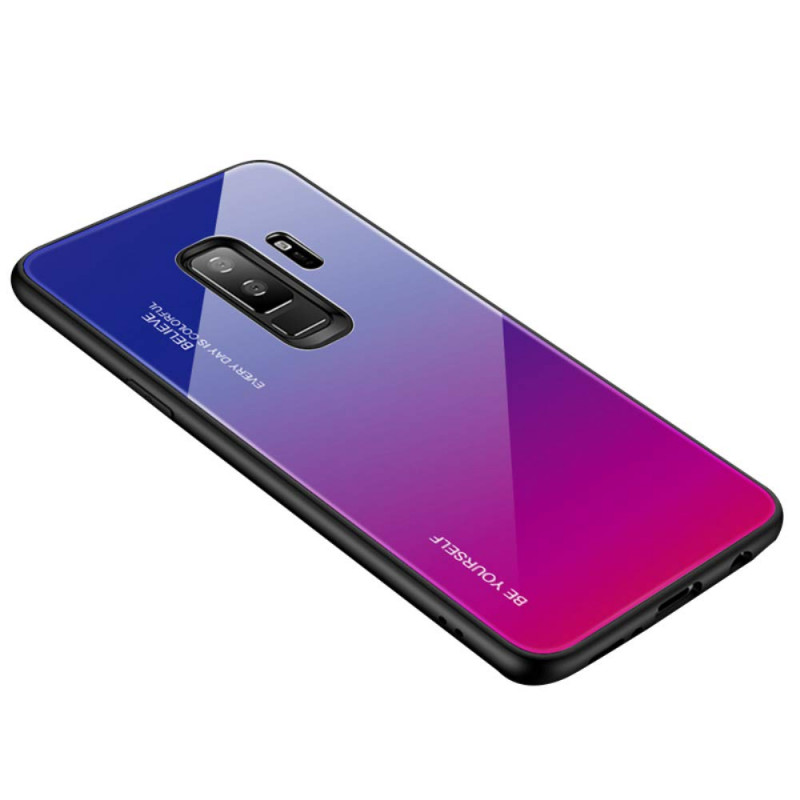 Husa Samsung Galaxy J6 Plus Gradient Glass, Blue-Purple - TemperedGlass.ro