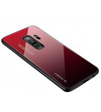 Husa Samsung Galaxy J4 Plus Gradient Glass, Red-Black