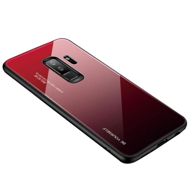 Husa Samsung Galaxy J4 Plus Gradient Glass, Red+Black - TemperedGlass.ro