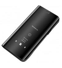 Husa Huawei P30 Pro tip carte Clear View, Black