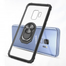 Husa Samsung Galaxy S9 Transparent Silver Ring, Black