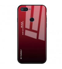 Husa Xiaomi Mi 8 Lite Gradient Glass, Red-Black