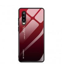 Husa Xiaomi Mi 9 Lite Gradient Glass, Red-Black