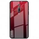 Husa Xiaomi Mi 9T Gradient Glass, Red-Black