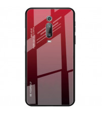 Husa Xiaomi Mi 9T Gradient Glass, Red-Black