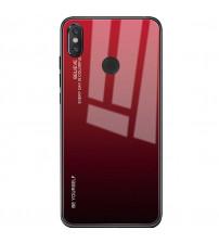 Husa Xiaomi Mi A2 Lite Gradient Glass, Red-Black