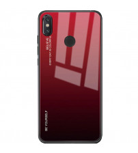 Husa Xiaomi Mi A2 Gradient Glass, Red-Black
