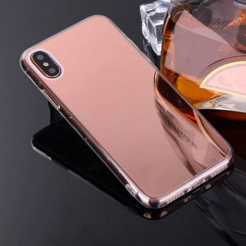 Husa Xiaomi Mi A2 Oglinda Luxury, Rose Gold - TemperedGlass.ro