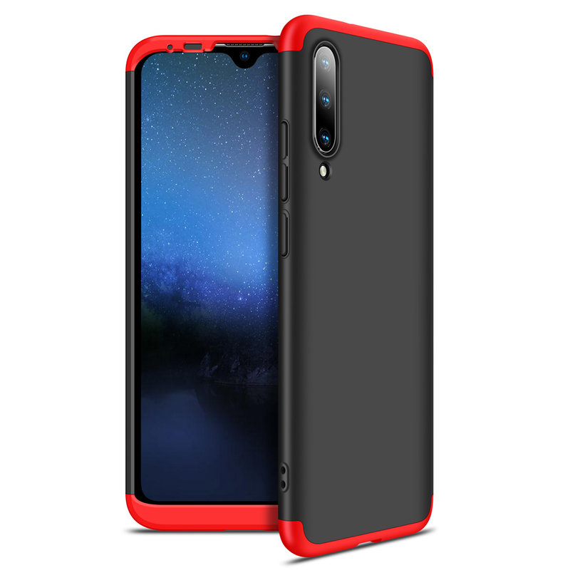 Husa Xiaomi Mi A2 GKK Full Cover 360, Black-Red - TemperedGlass.ro