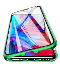 Husa Xiaomi Redmi Note 9 Magnetic 360 (fata+spate sticla), Green