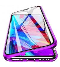 Husa Xiaomi Redmi Note 9 Magnetic 360 (fata+spate sticla), Purple