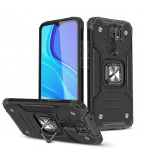Husa Xiaomi Redmi Note 9 Wozinsky Ring Armor Rugged, Black