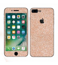 Skin fashion GLITTER pentru iPhone 7 Plus - Gold