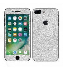 Skin fashion GLITTER pentru iPhone 7 Plus - Silver