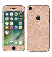 Skin fashion GLITTER pentru iPhone 7 - Gold