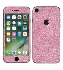 Skin fashion GLITTER pentru iPhone 7 - Pink