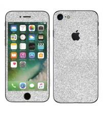Skin fashion GLITTER pentru iPhone 7 - Silver