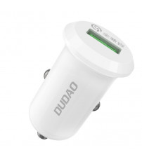 Incarcator auto Dudao R4, Quick Charge 4A QC3.0, 15W, Alb