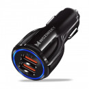 Incarcator auto Wozinsky, Quick Charge QC3.0, 2 X USB, Black