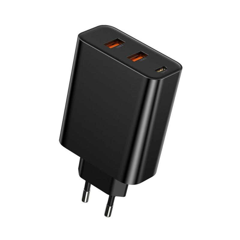 Incarcator Baseus Speed PPS, Quick Charger 60W, PD, Type-C + USB, Negru