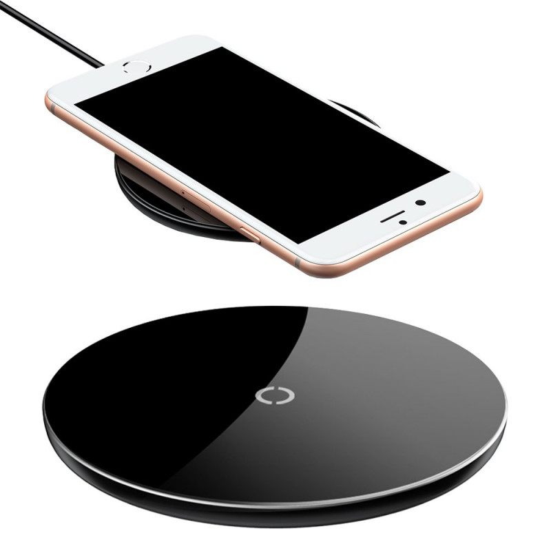Incarcator wireless Qi 10W Baseus Simple, Black
