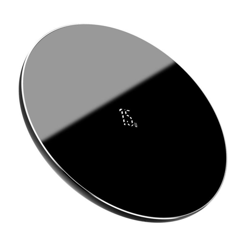 Incarcator wireless Qi 15W Baseus Simple, Black