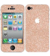 Skin fashion GLITTER pentru iPhone 4 / 4S - Gold