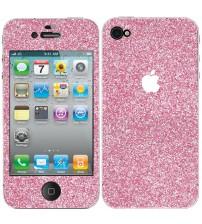 Skin fashion GLITTER pentru iPhone 4 / 4S - Pink