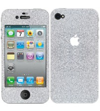 Skin fashion GLITTER pentru iPhone 4 / 4S - Silver