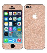 Skin fashion GLITTER pentru iPhone 5 / 5S - Gold