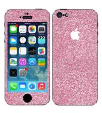 Skin fashion GLITTER pentru iPhone 5 / 5S - Pink